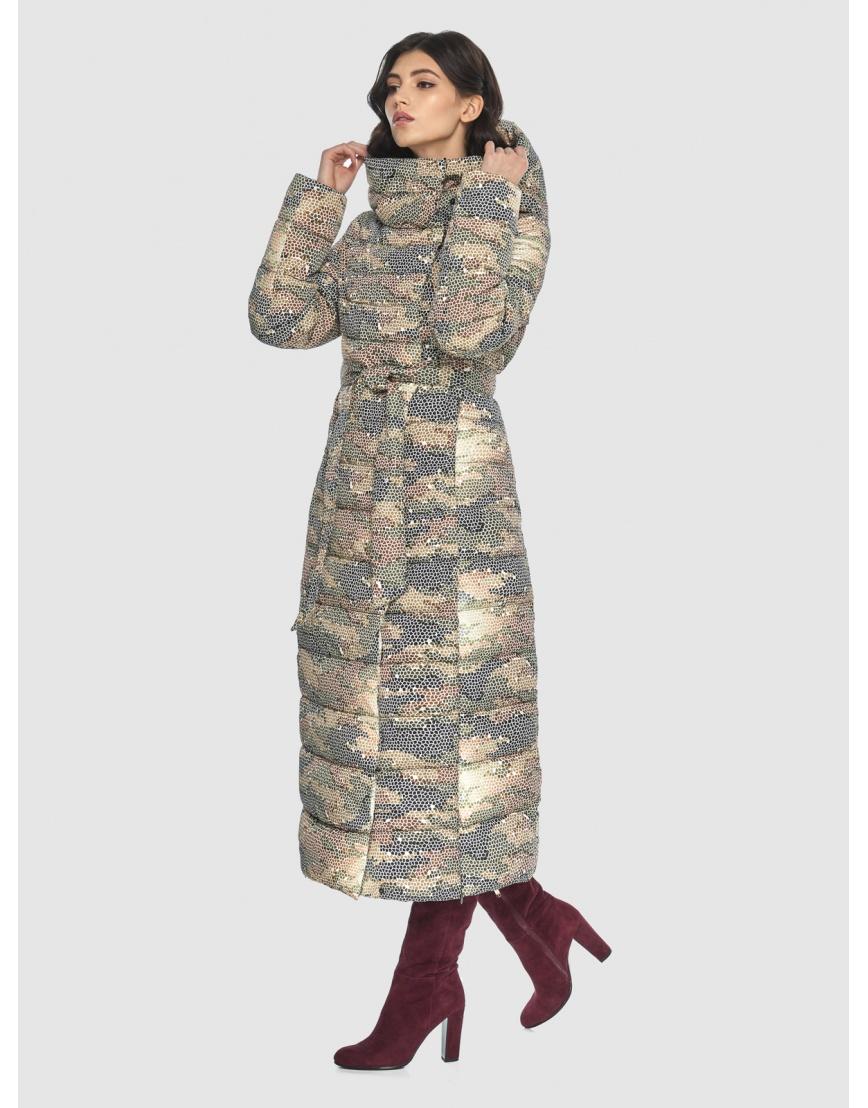 Люксовая куртка с рисунком зимняя подростковая Vivacana 8320/21 фото 5