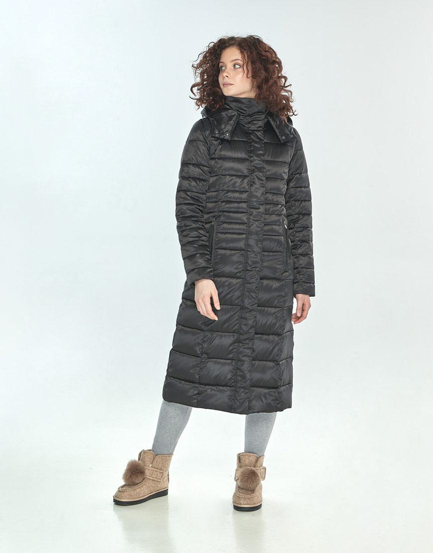 Куртка Moc женская чёрная длинная M6430 фото 1
