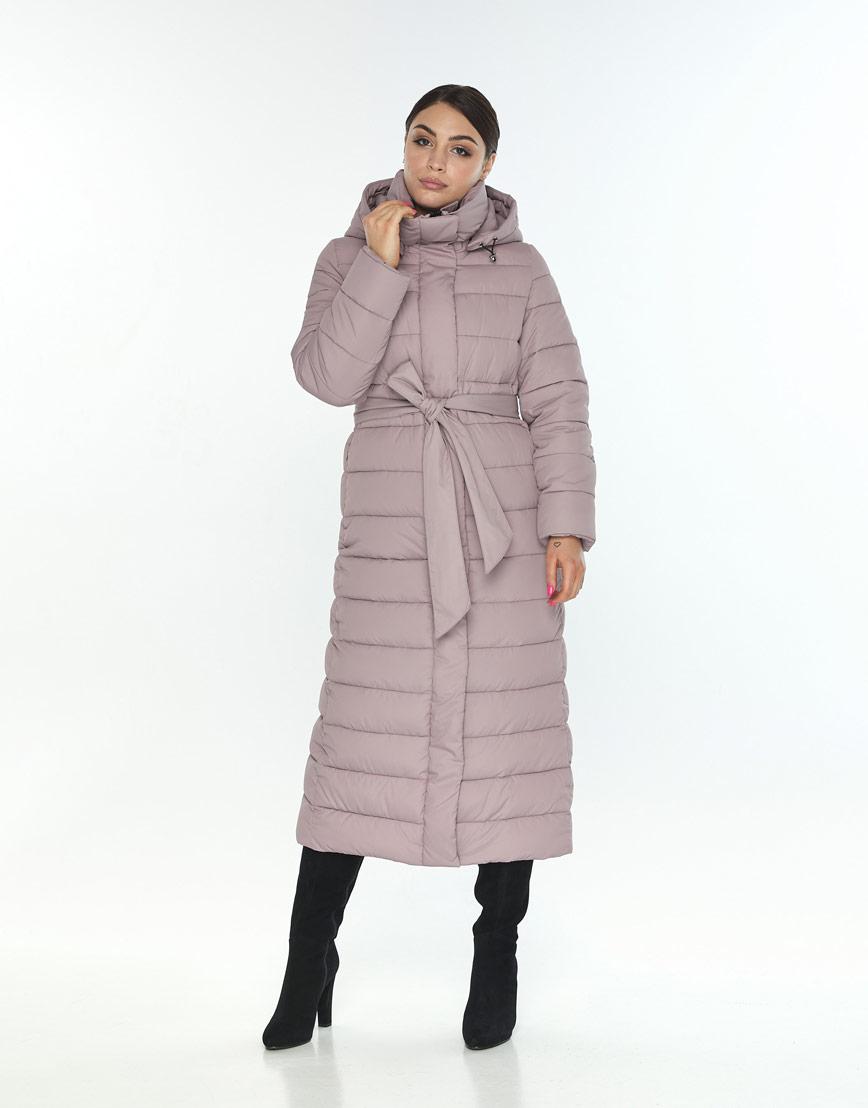 Женская куртка Wild Club для зимы оригинальная цвет пудра 524-65 фото 2