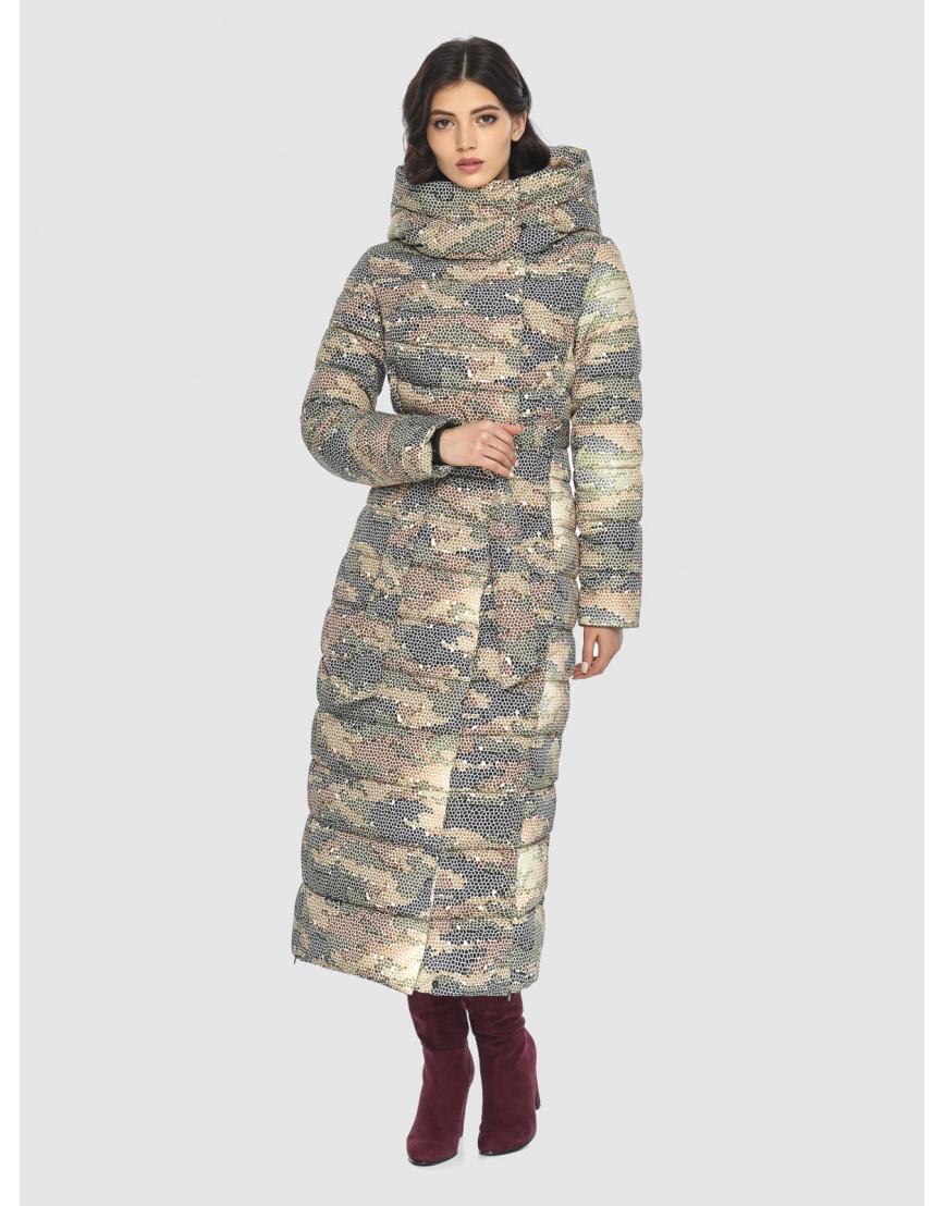 Люксовая куртка с рисунком зимняя подростковая Vivacana 8320/21 фото 1