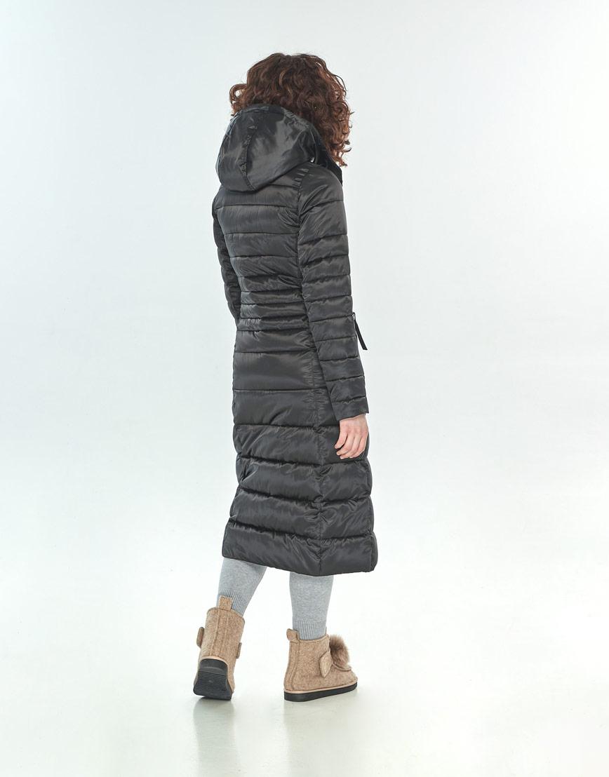 Куртка Moc женская чёрная длинная M6430 фото 3