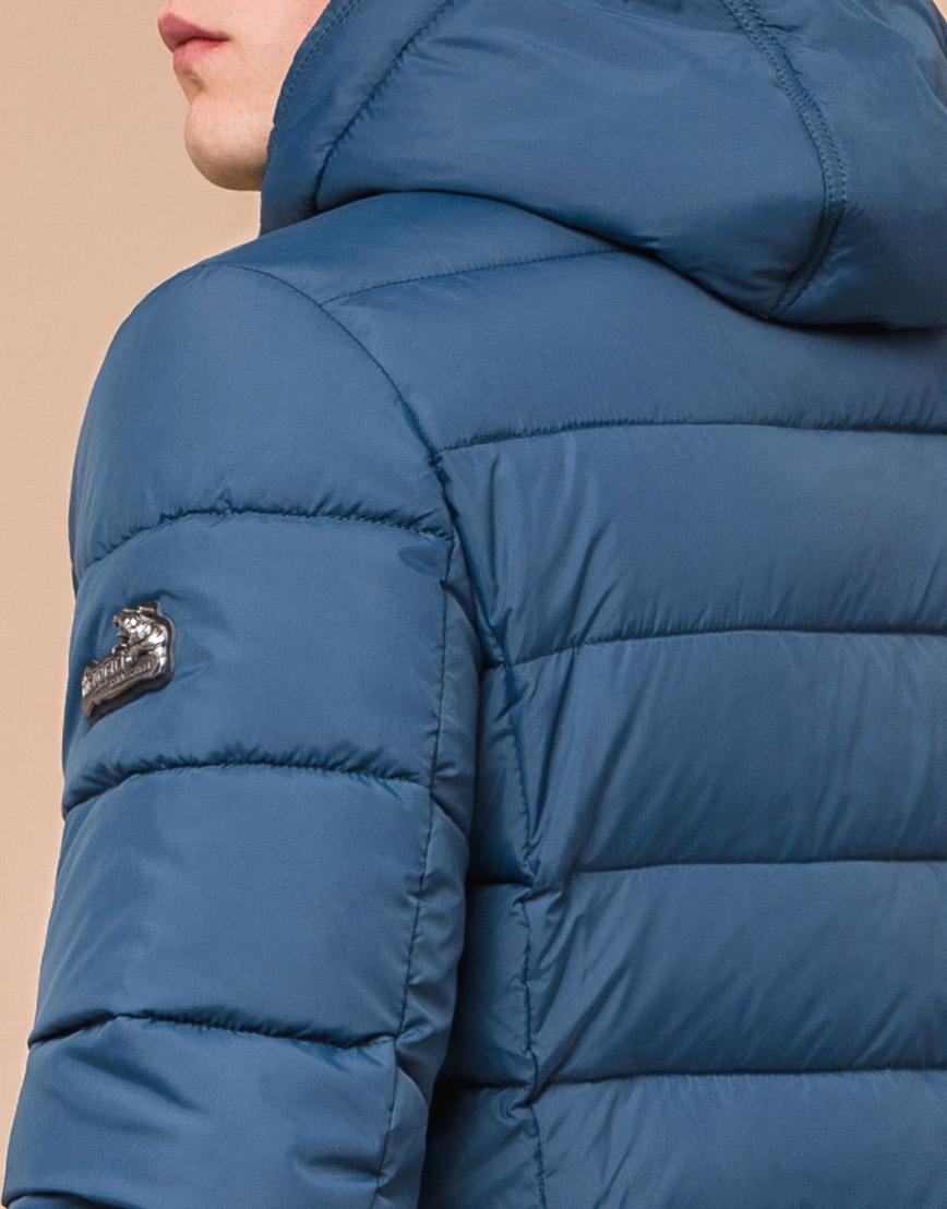 Куртка зимняя темно-бирюзовая для мужчин модель 36450 оптом