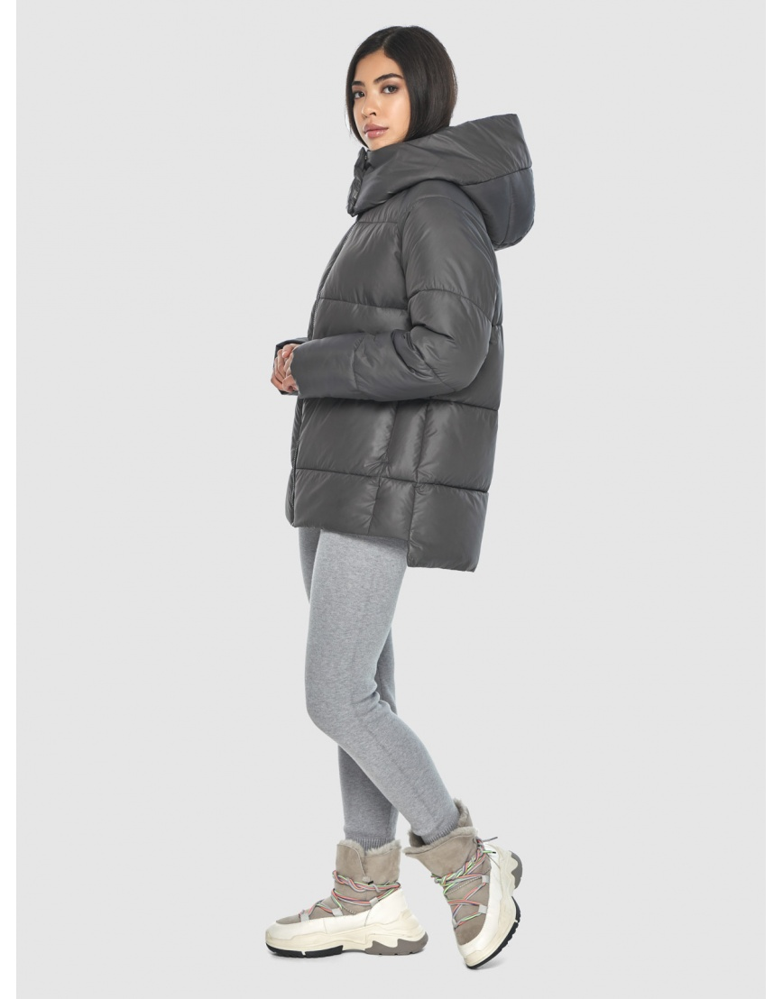Серая куртка женская Moc короткая M6212 фото 3