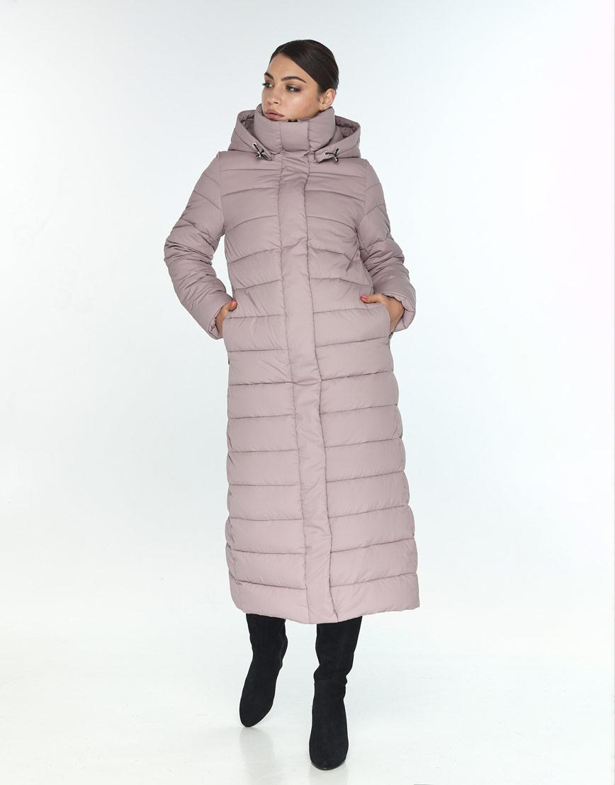 Женская куртка Wild Club для зимы оригинальная цвет пудра 524-65 фото 1