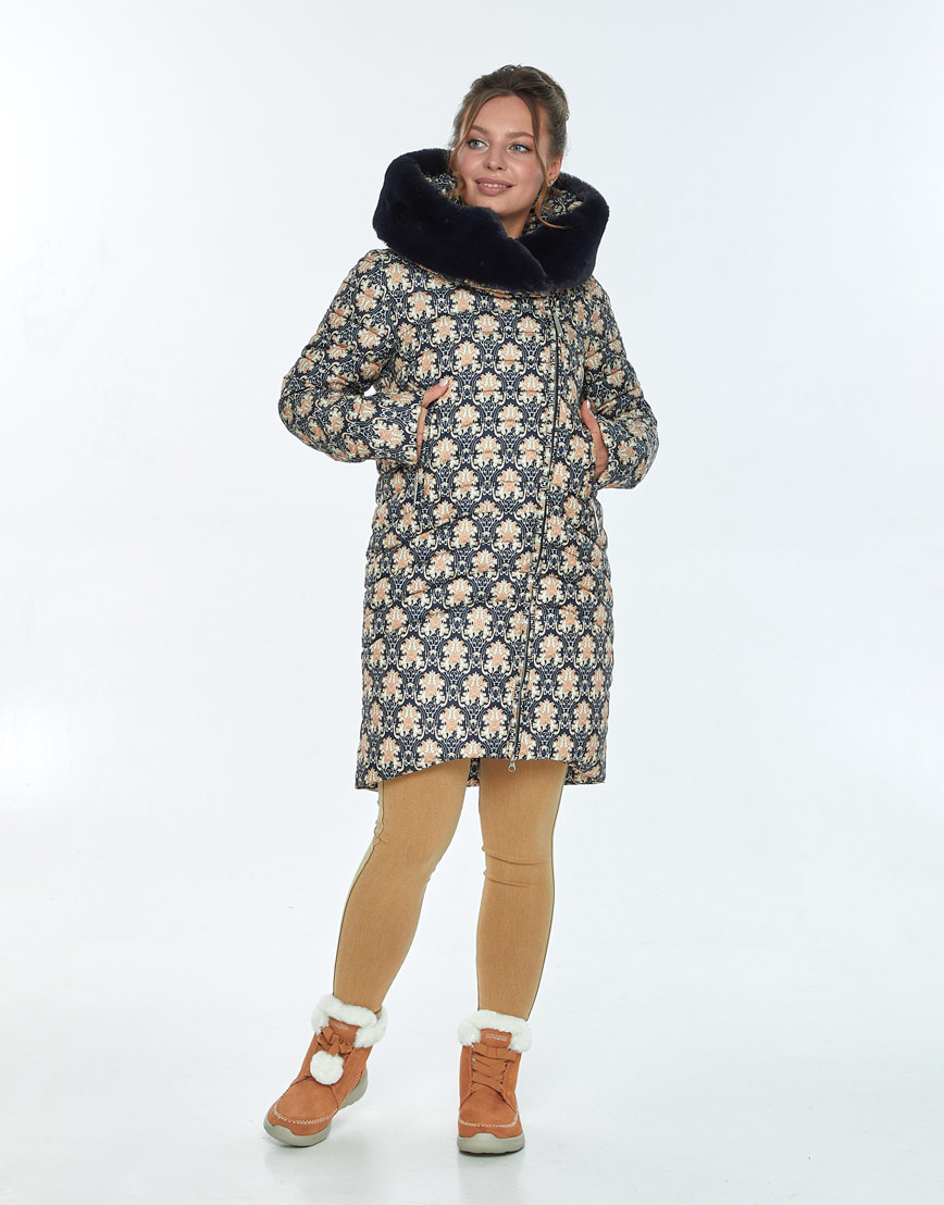 Куртка с рисунком женская Ajento на молнии 24138 фото 1