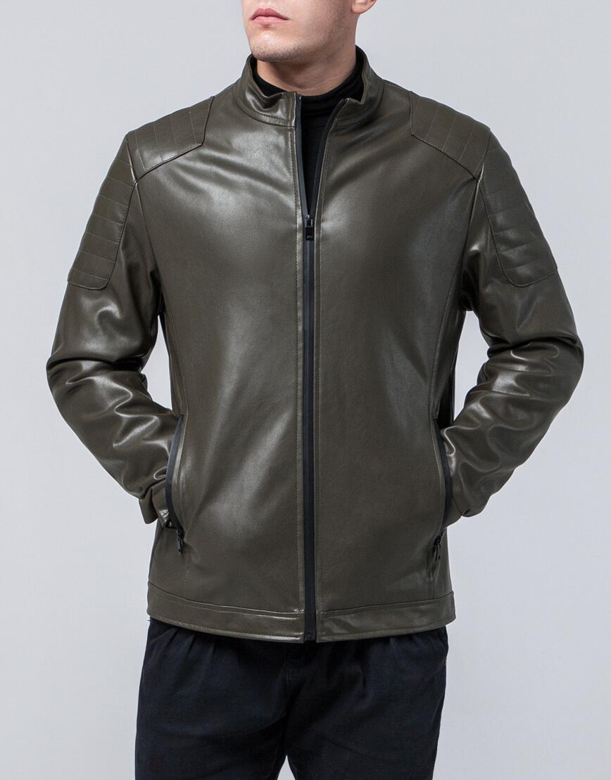 Ветровка цвета хаки с карманами модель 4129 оптом