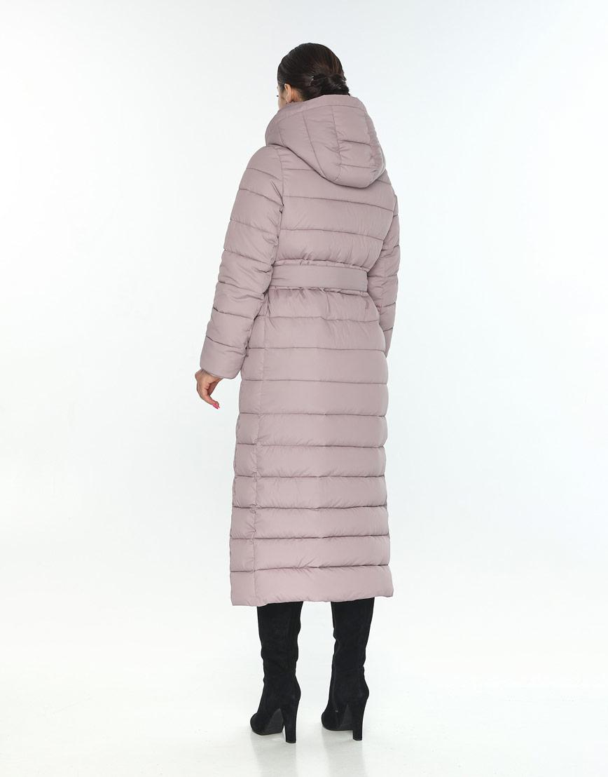 Женская куртка Wild Club для зимы оригинальная цвет пудра 524-65 фото 3