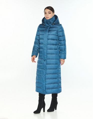 Женская куртка большого размера Wild Club зимняя аквамариновая 524-65 фото 1