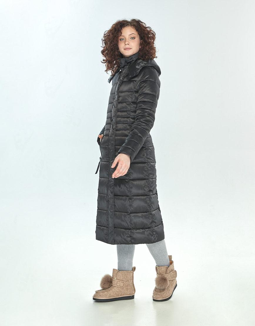 Куртка Moc женская чёрная длинная M6430 фото 2