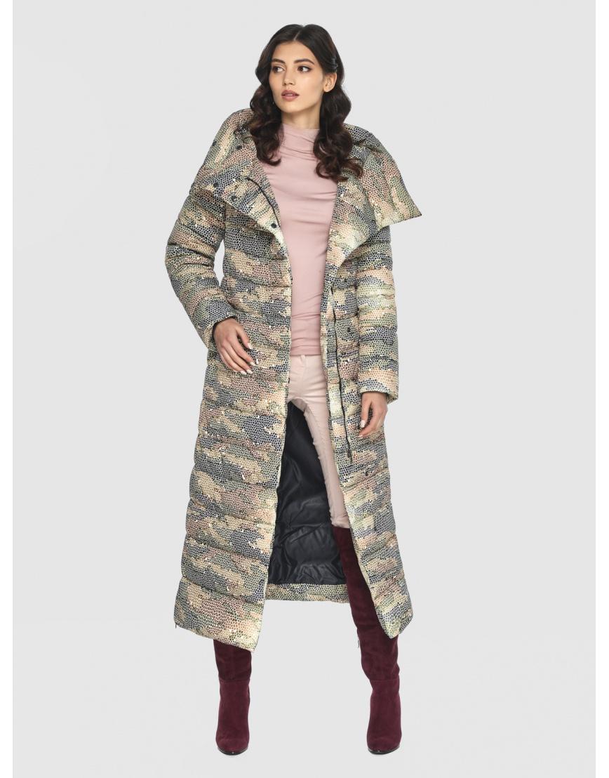Люксовая куртка с рисунком зимняя подростковая Vivacana 8320/21 фото 6