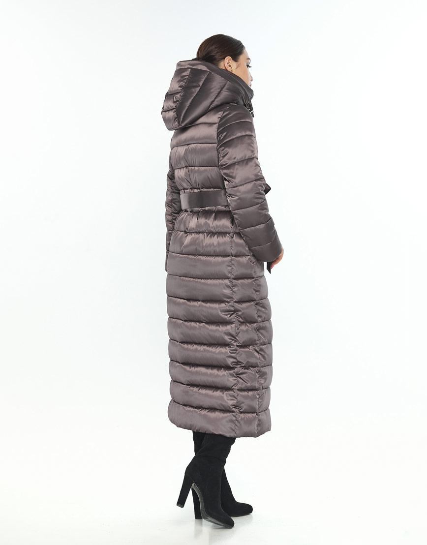 Зимняя куртка женская Wild Club с капюшоном капучиновая 524-65 фото 3
