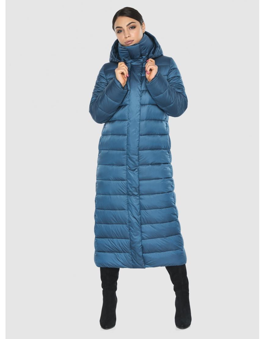 Подростковая стильная зимняя куртка Wild Club аквамариновая 524-65 фото 3