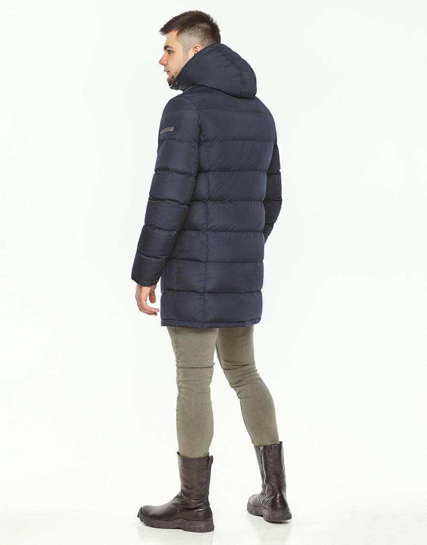 Мужская куртка зимняя темно-синяя модель 32045 оптом фото 5
