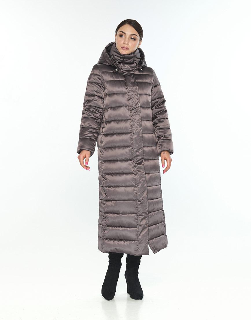 Зимняя куртка женская Wild Club с капюшоном капучиновая 524-65 фото 1