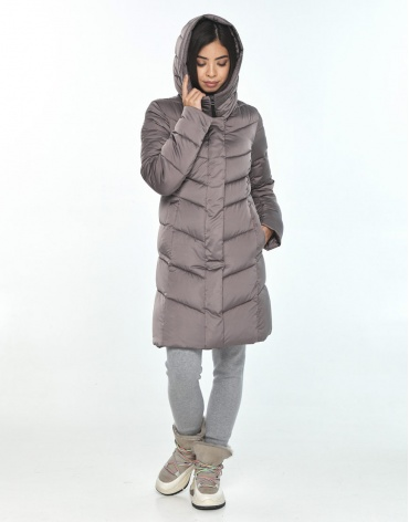 Удобная куртка подростковая Moc зимняя цвет пудра M6540 фото 1