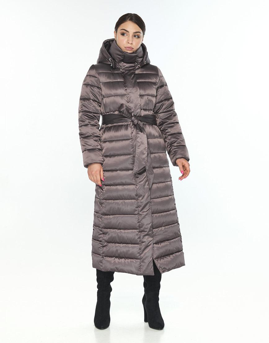Зимняя куртка женская Wild Club с капюшоном капучиновая 524-65 фото 2