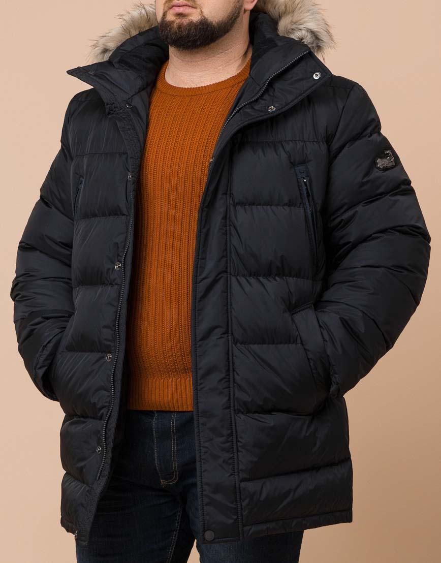 Трендовая черная куртка большого размера удобная модель 37762 фото 2