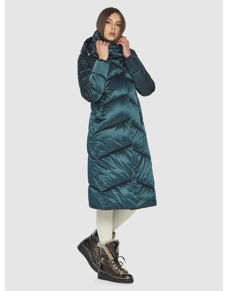 Куртка на зиму для девушек зелёная Wild Club комфортная 514-35 фото 4
