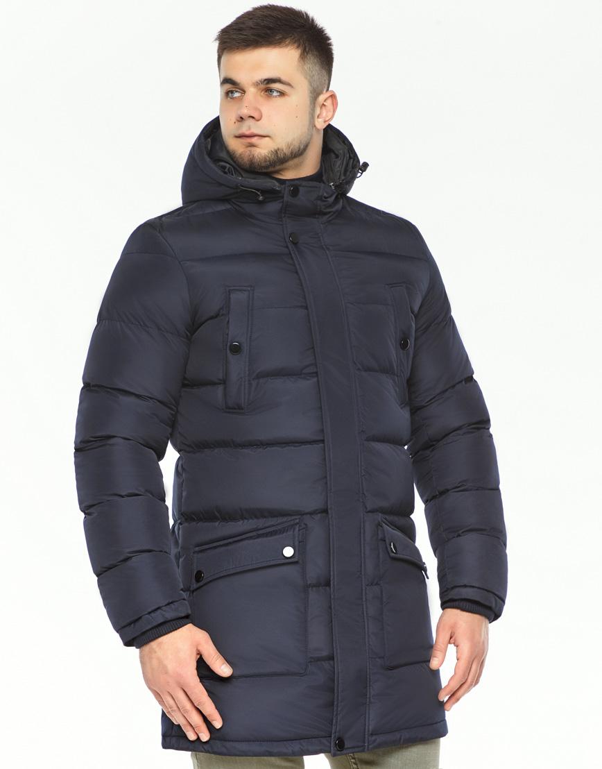 Мужская куртка зимняя темно-синяя модель 32045 оптом фото 2
