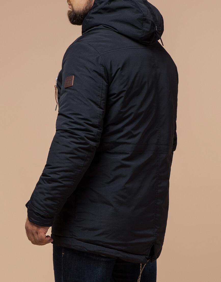 Черно-синяя парка мужская зимняя модель 43015 фото 3
