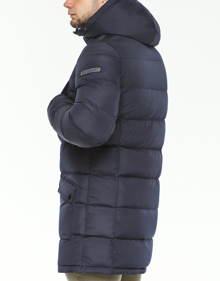 Мужская куртка зимняя темно-синяя модель 32045 оптом фото 7
