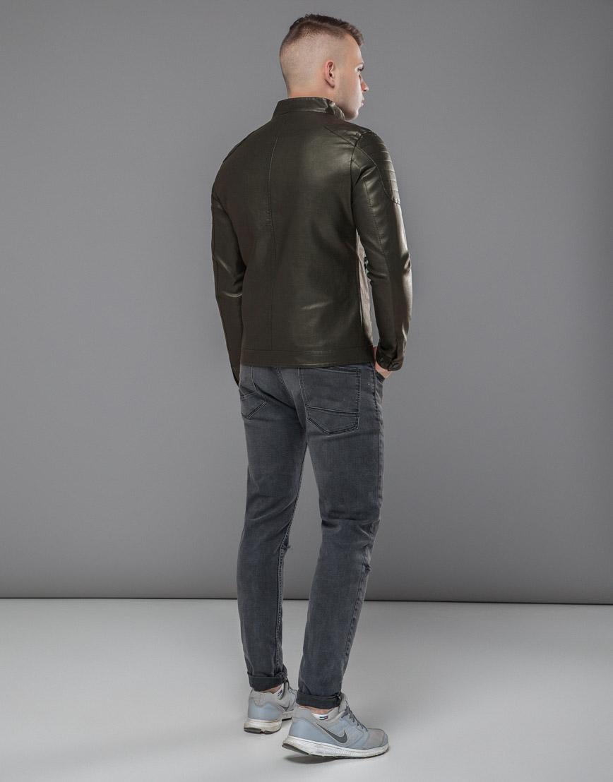 Демисезонная куртка хаки модель 36361 оптом фото 4