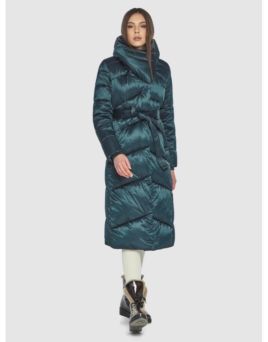 Куртка на зиму для девушек зелёная Wild Club комфортная 514-35 фото 6