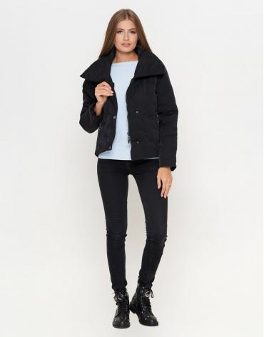 Удобная черная женская куртка модель 25062 фото 1