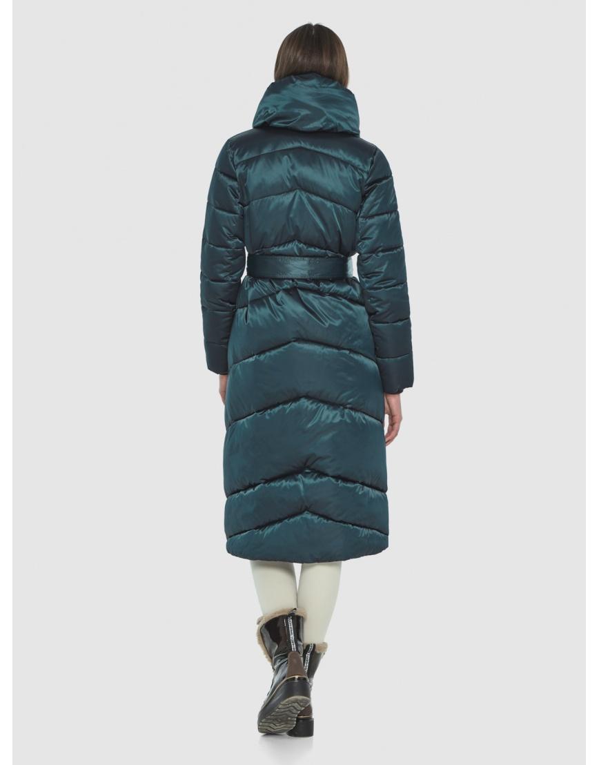 Куртка на зиму для девушек зелёная Wild Club комфортная 514-35 фото 5