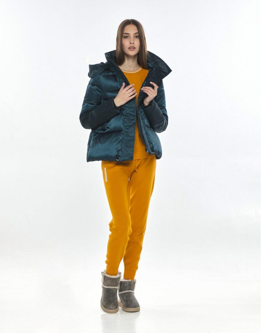 Стильная куртка зелёная подростковая Vivacana 9742/21 фото 2