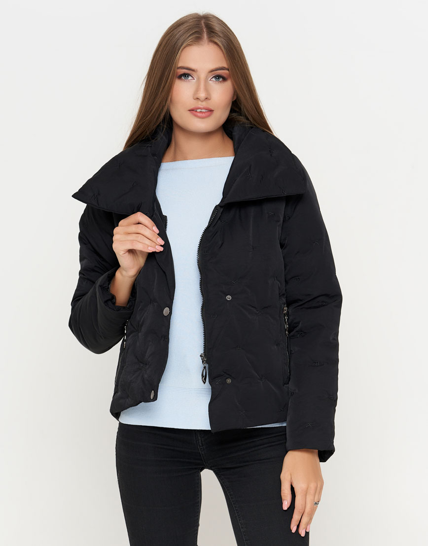 Удобная черная женская куртка модель 25062