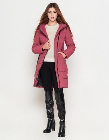 Молодежная розовая женская куртка эксклюзивная с карманами модель 25325
