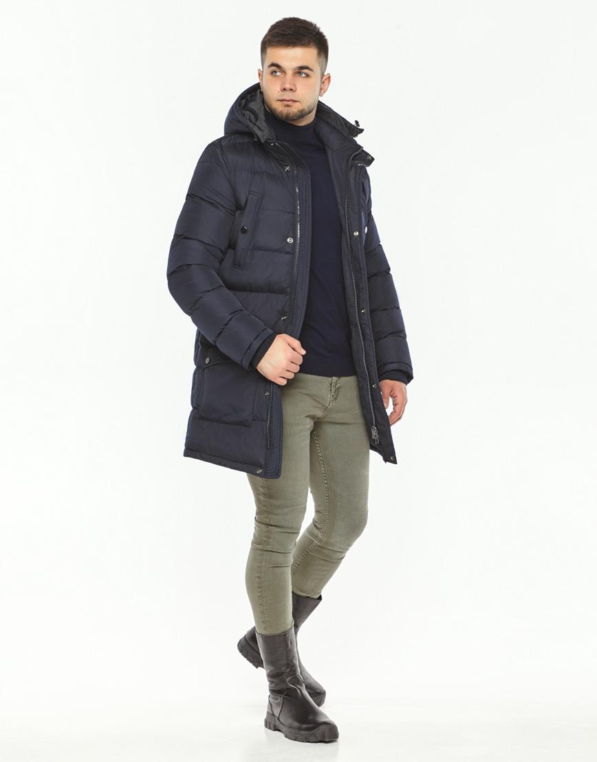Мужская куртка зимняя темно-синяя модель 32045 оптом фото 1