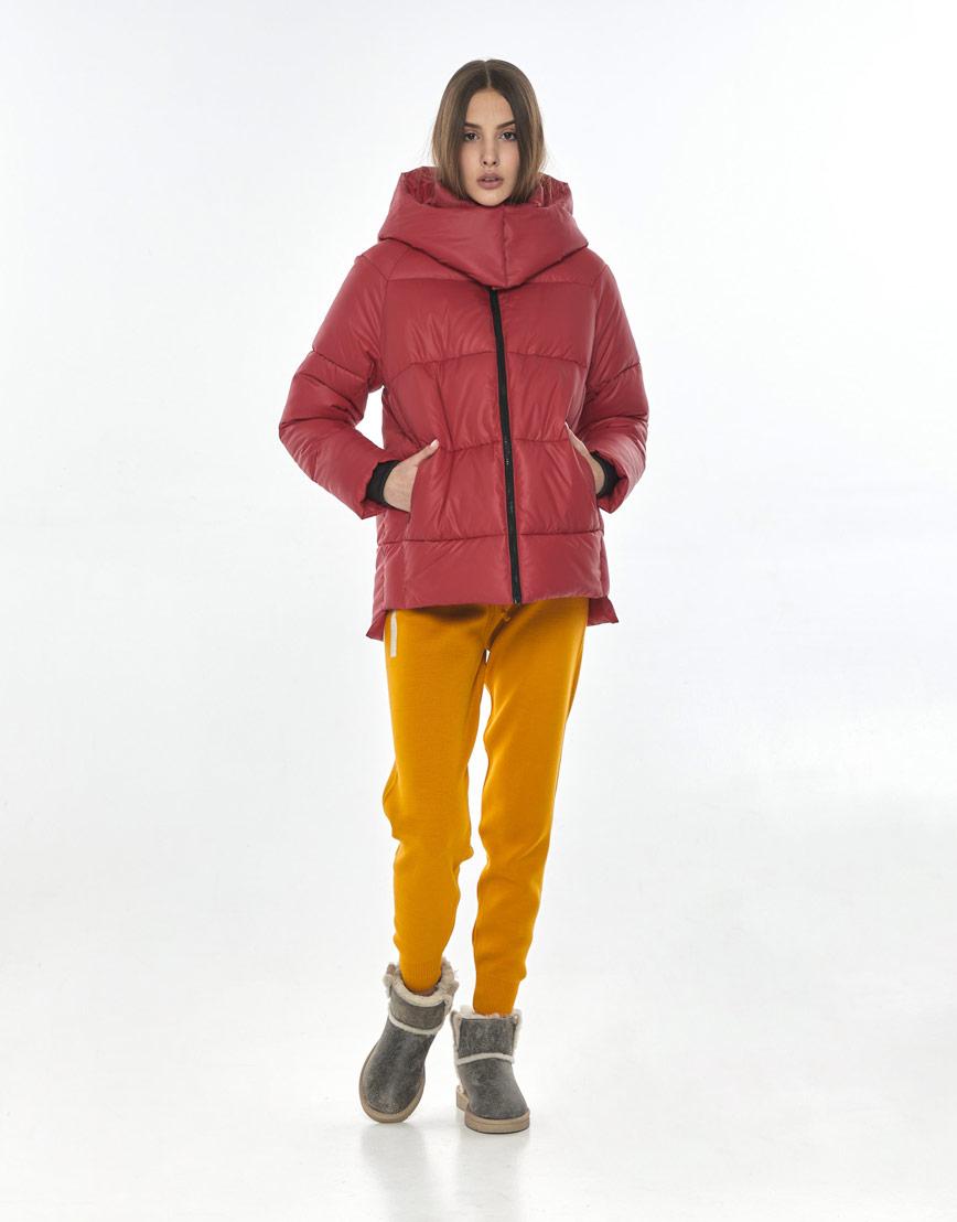 Красная куртка женская Vivacana 7354/21 фото 2