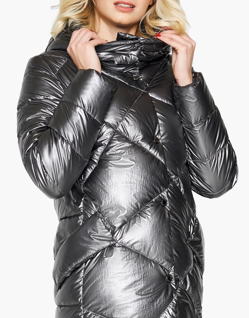 Воздуховик женский Braggart цвет серебро зимний трендовый модель 31063