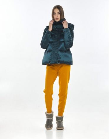Стильная куртка зелёная подростковая Vivacana 9742/21 фото 1