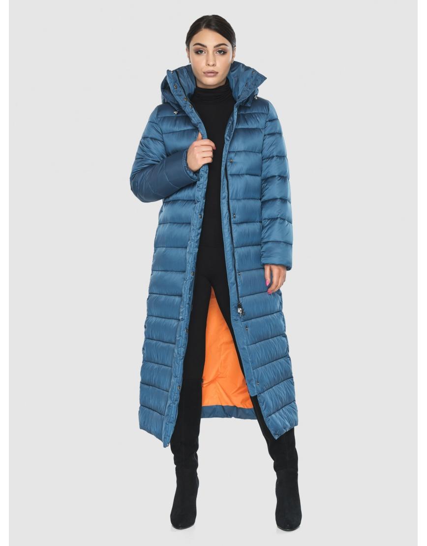 Подростковая стильная зимняя куртка Wild Club аквамариновая 524-65 фото 2