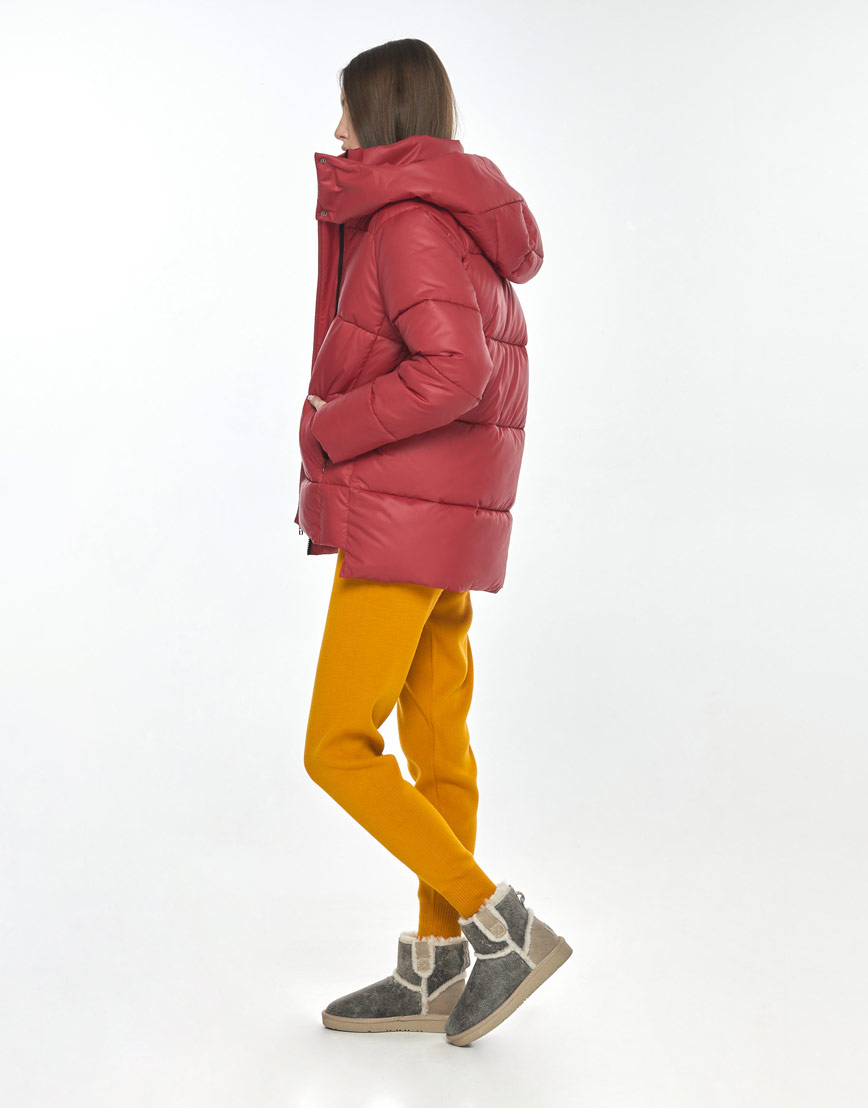 Красная куртка женская Vivacana 7354/21 фото 3