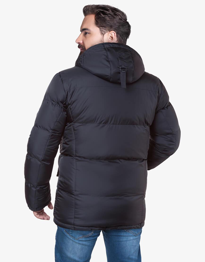 Теплая куртка черного цвета большого размера модель 3284 фото 3