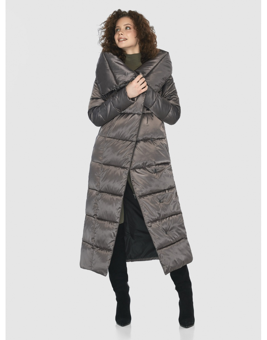 Капучиновая современная куртка Moc женская M6321 фото 6
