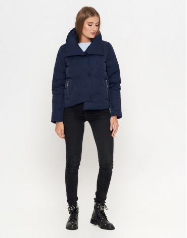 Синяя женская куртка стильная модель 25062 фото 1