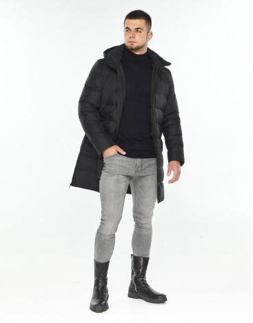 Куртка черная мужская теплая модель 35260 фото 1