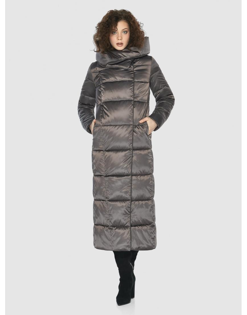Капучиновая современная куртка Moc женская M6321 фото 2
