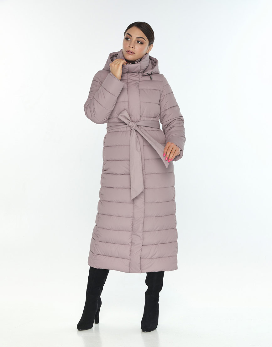 Женская куртка большого размера Wild Club комфортная цвет пудра 524-65 фото 2