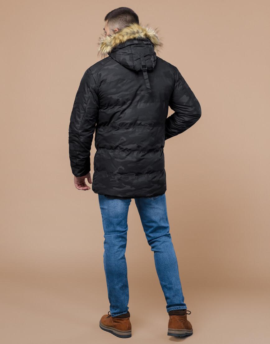 Зимняя куртка дизайнерская фирменная черная модель 25350 фото 4