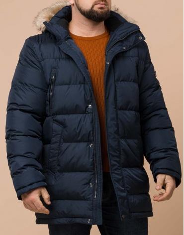 Фирменная темно-синяя куртка большого размера модель 37762 фото 1