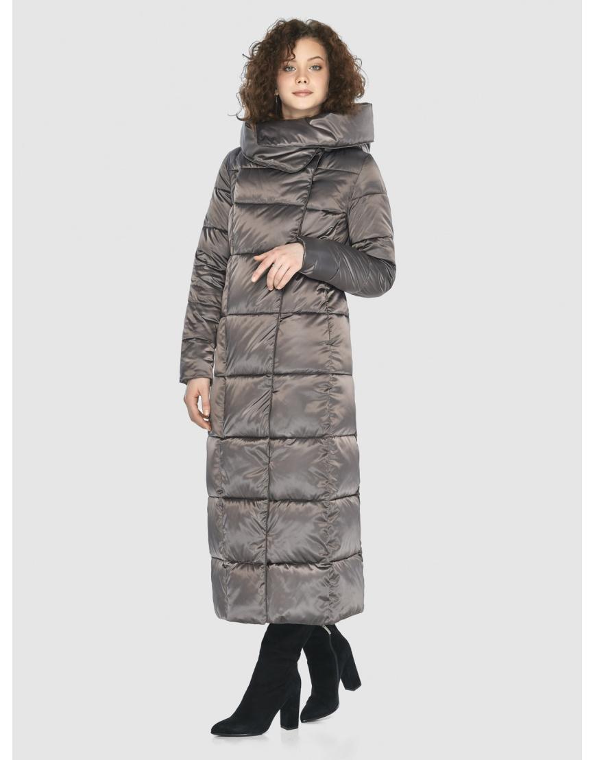 Капучиновая современная куртка Moc женская M6321 фото 5