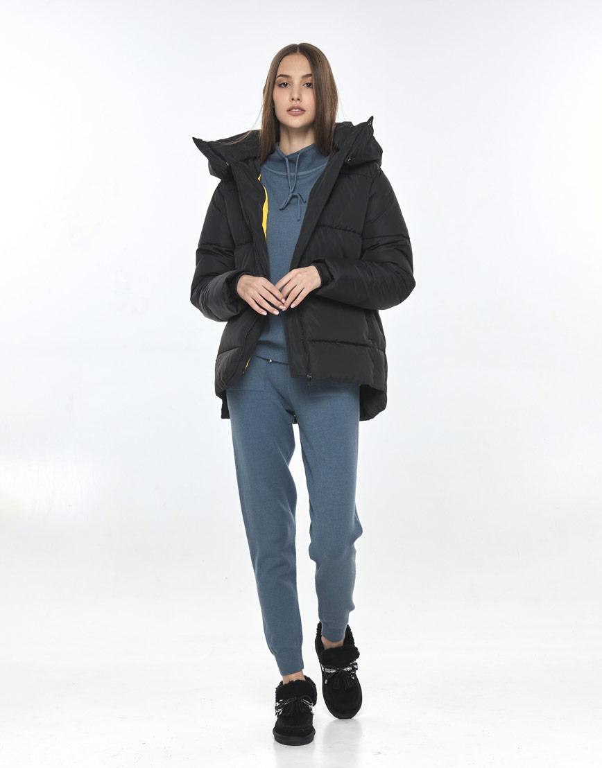 Короткая чёрная куртка Vivacana женская 7354/21 фото 2