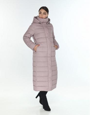 Женская куртка большого размера Wild Club комфортная цвет пудра 524-65 фото 1