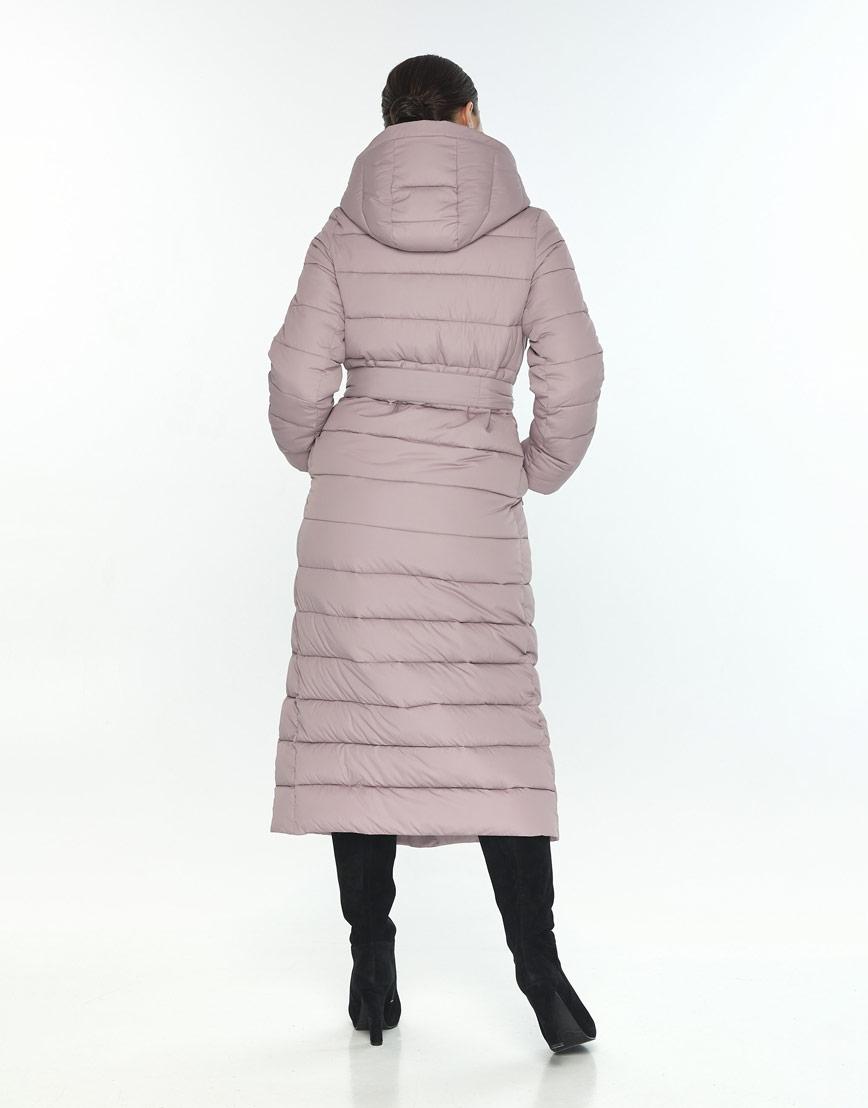 Женская куртка большого размера Wild Club комфортная цвет пудра 524-65 фото 3